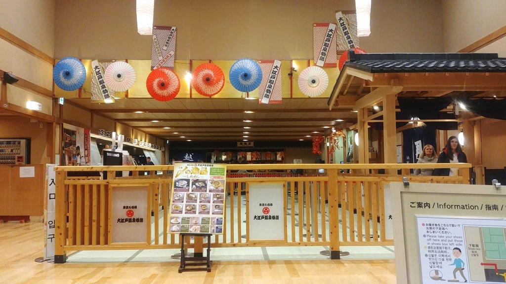 Oedo Onsen Monogatari Tokyo Closing