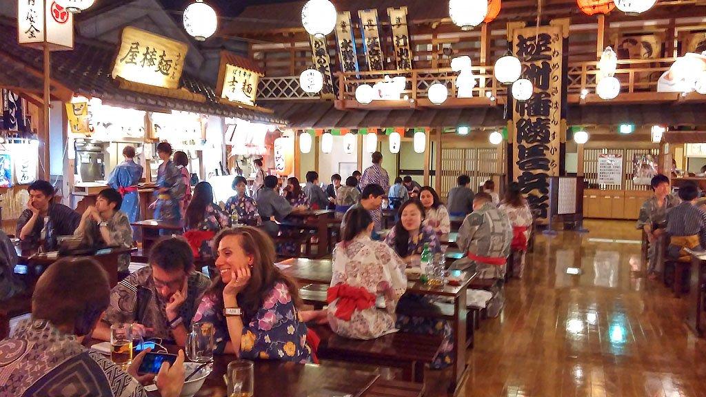 Tokyo Oedo Onsen Monogatari Food Area