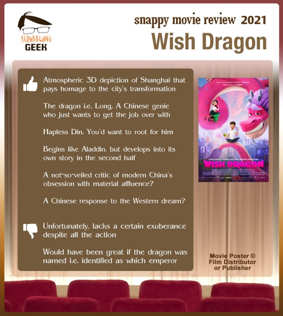 Wish Dragon Review: 6 thumbs-up and 2 thumbs-down