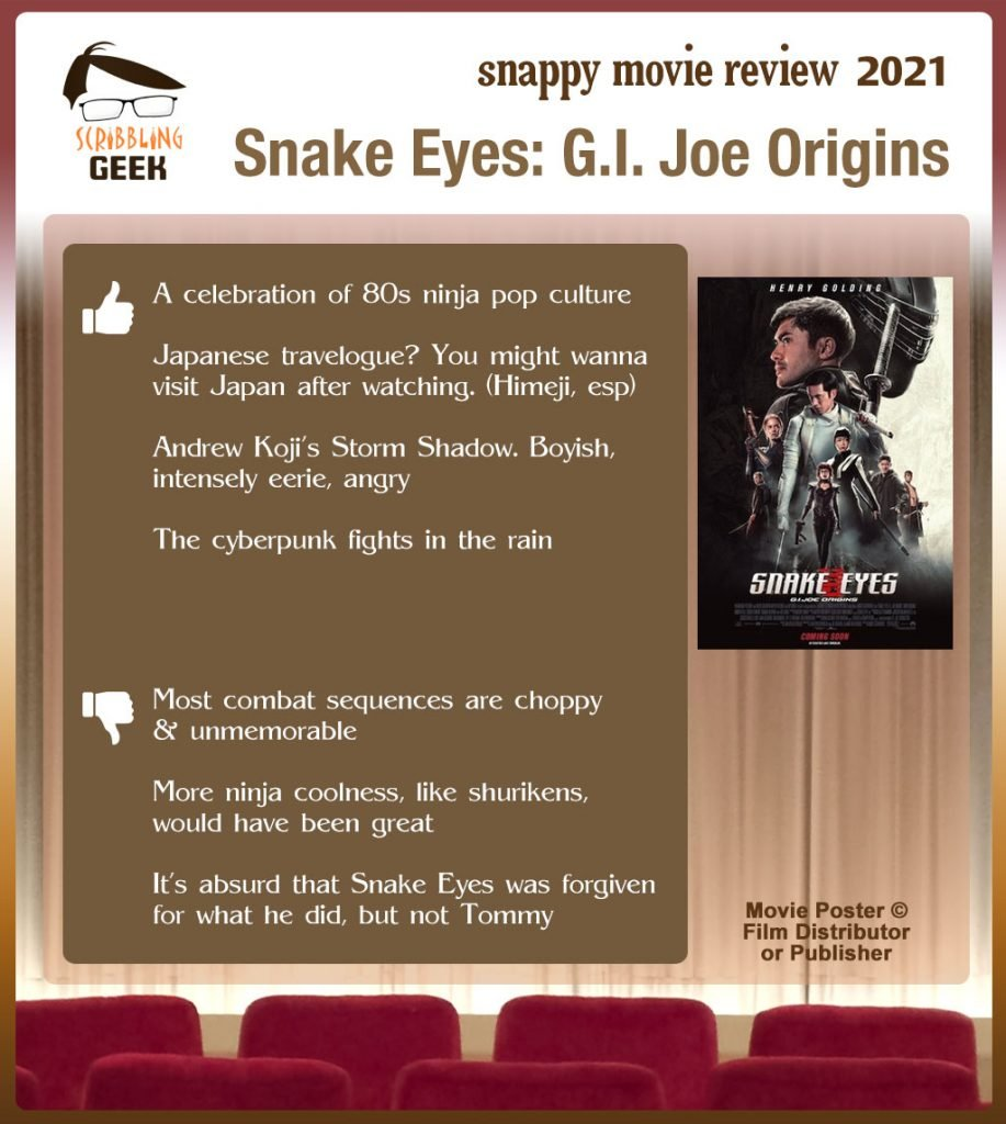 Snake Eyes Movie Review: 4 thumbs-up and 3 thumbs down