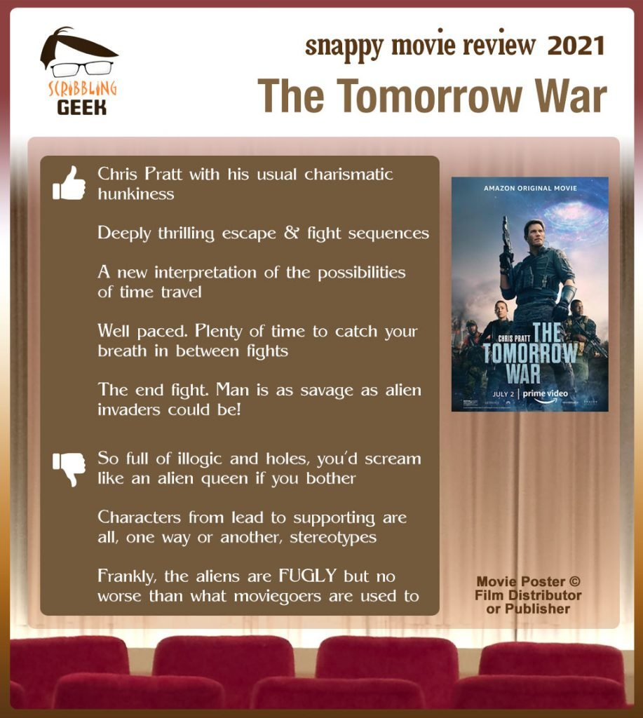 he Tomorrow War Review: 5 thumbs-up and 3 thumbs-down.