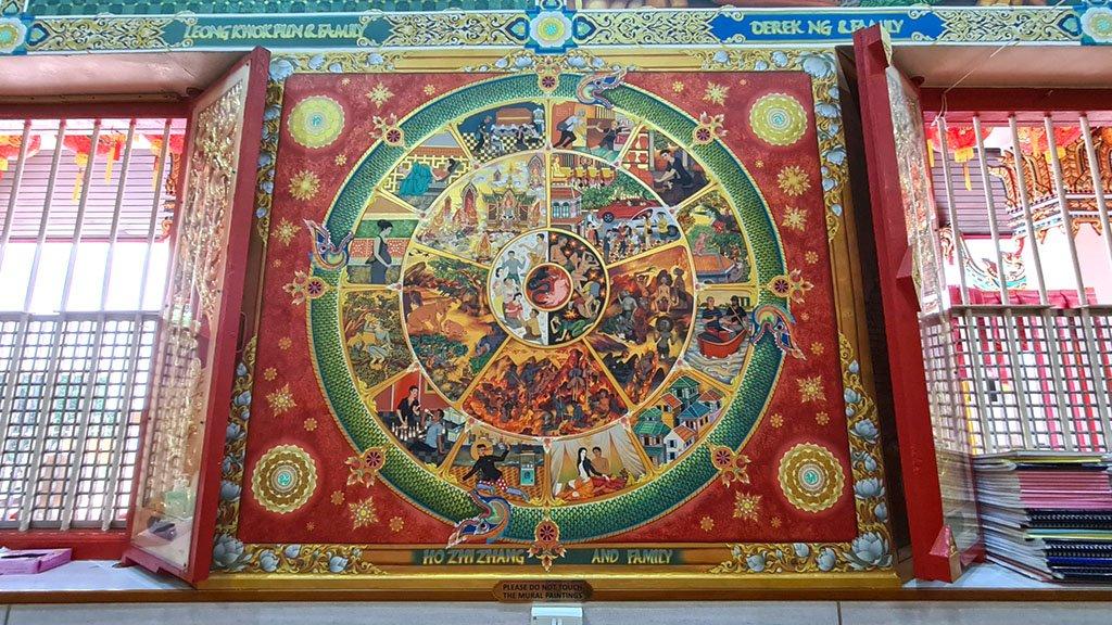 Wat Ananda Metyarama Dhamma Wheel