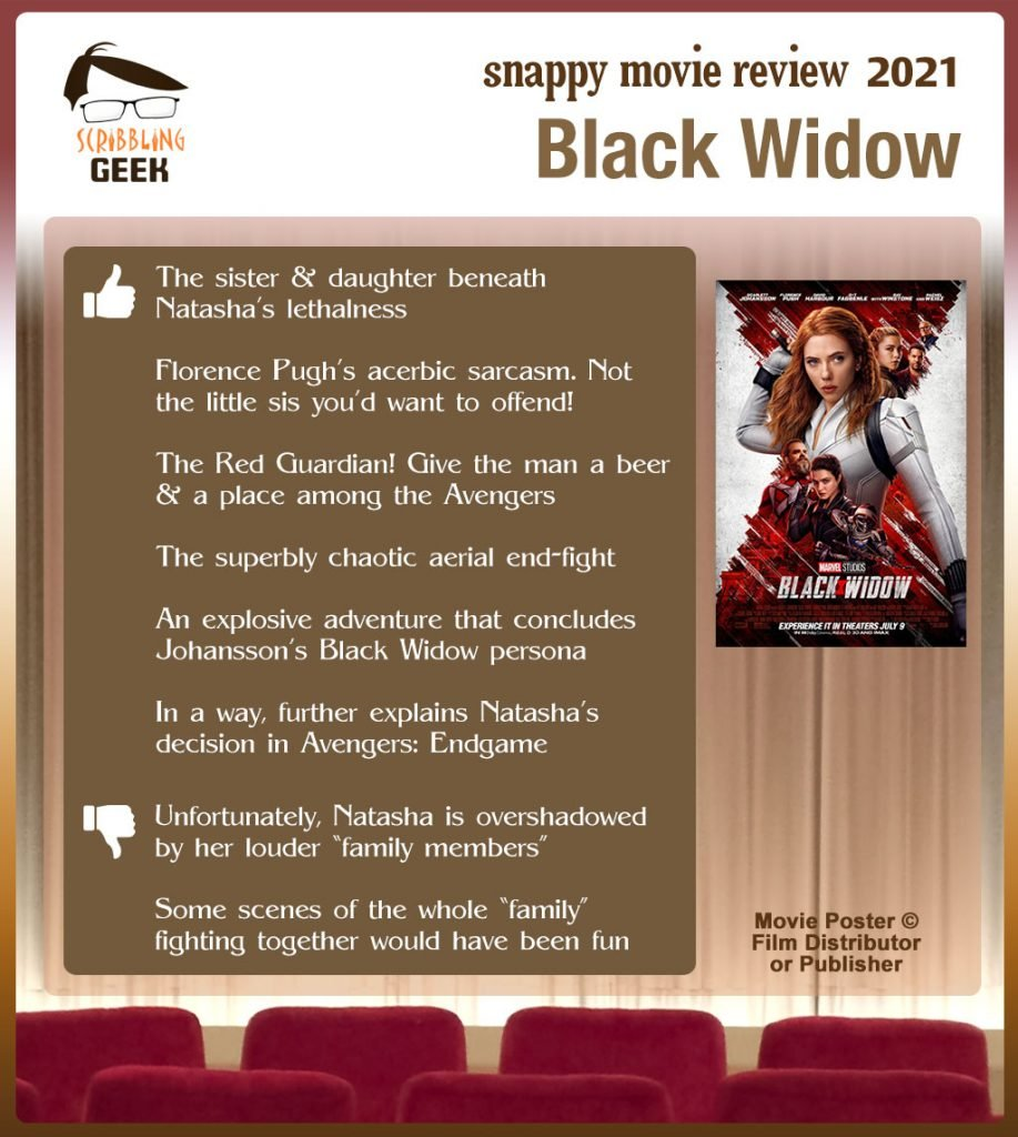 Black Widow (2021) Review: 6 thumbs-up and 2 thumbs-down