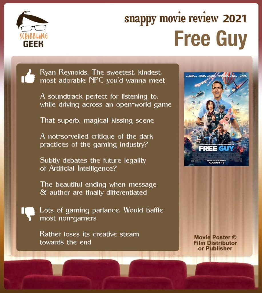 Free Guy Review: 6 thumbs-up and 2 thumbs-down