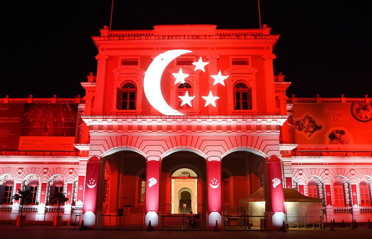 Singapore National Day Light-Up 2021 at Seven Historical Landmarks