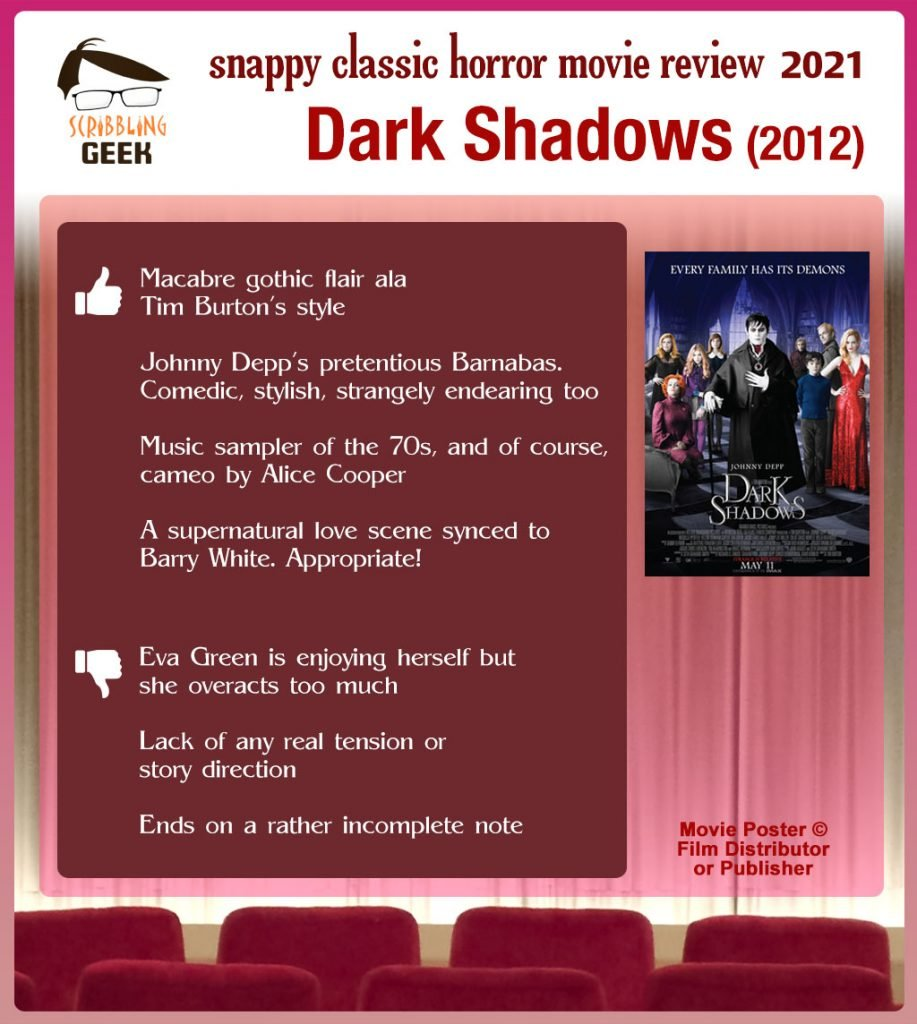 Dark Shadows (2012) Movie Review: 4 thumbs-up and 3 thumbs-down.