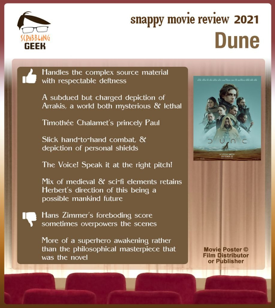 Dune (2021 Film) Review: 6 thumbs-up and 2 thumbs-down