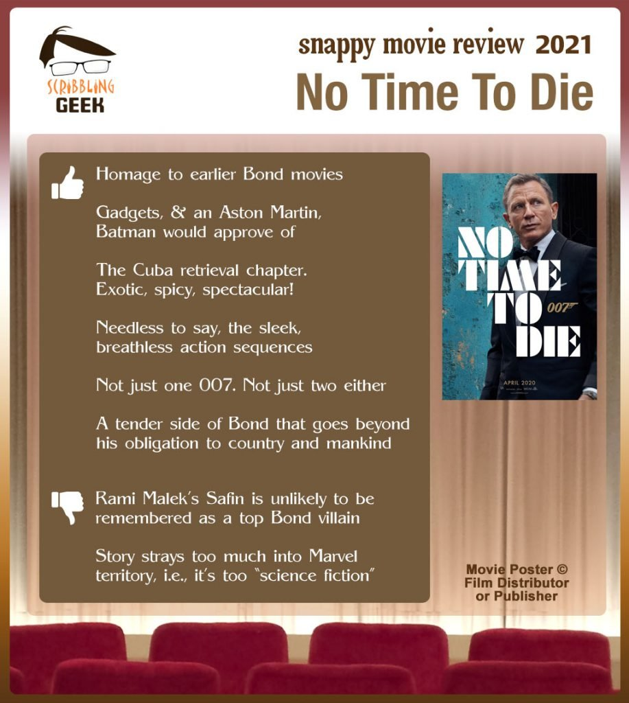 No Time To Die Movie Review: 6 thumbs-up and 2 thumbs-down