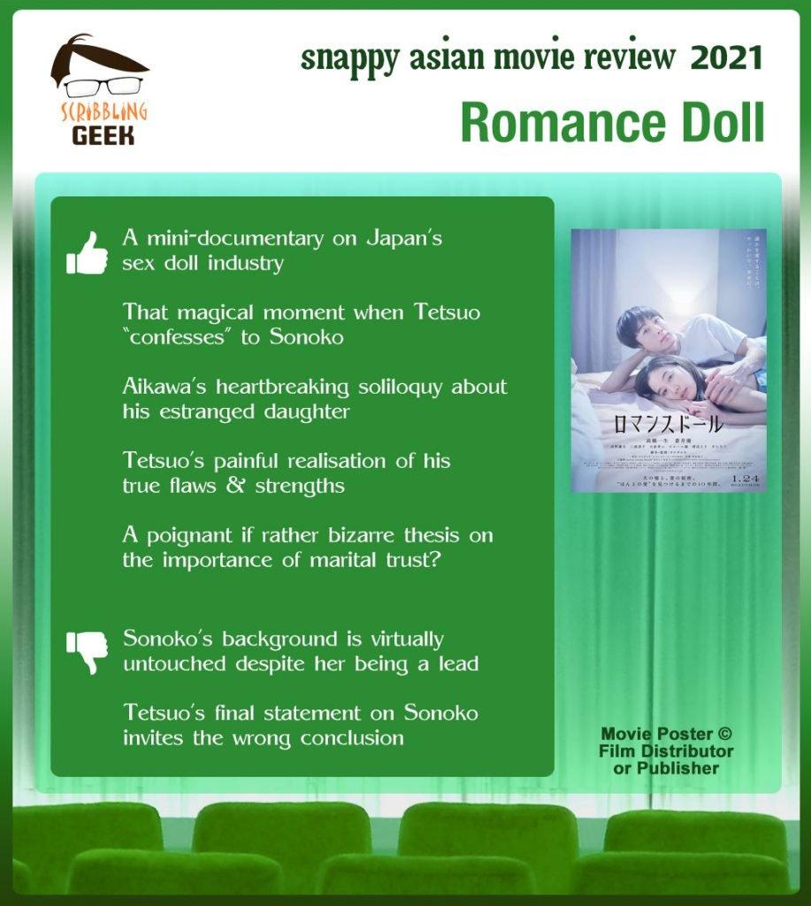Romance Doll (ロマンスドール) Review: 5 thumbs-up and 2 thumbs-down.