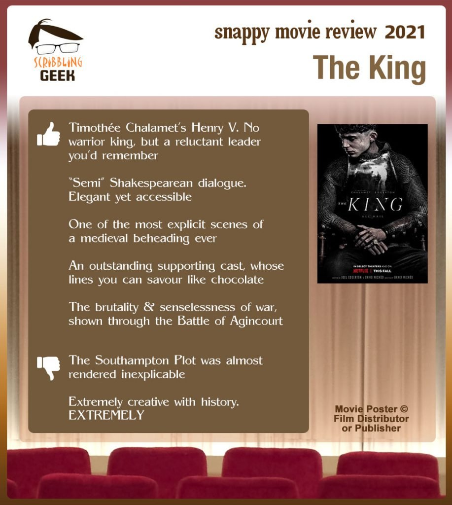The King (2019 Film) Review: 5 thumbs-up and 2 thumbs-down.